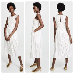 NWT English Factory Striped Midi Dress